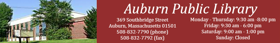 Auburn Public Library Website